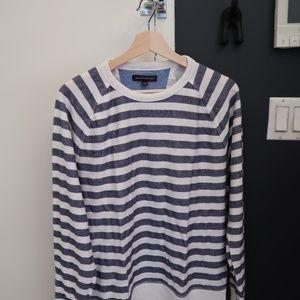 Banana Republic Men's Striped Sweater Shirt - M